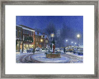 Downtown Woodstock Framed Print by Candace Lovely
