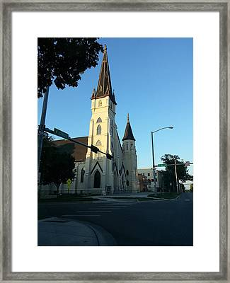 Downtown Worship Framed Print