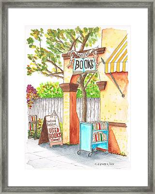 Downtowne Used Books In Riverside, California Framed Print