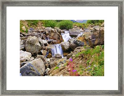 Downward Flow Framed Print by Mike Schmidt
