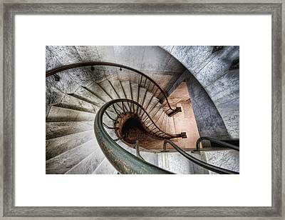 Downward Spiral Framed Print