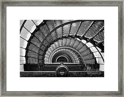 Downward Spiral Bw Framed Print