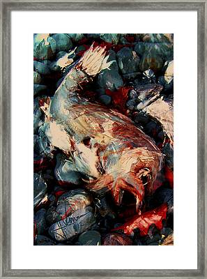 Framed Print featuring the digital art Downward Spiral by Jim Vance