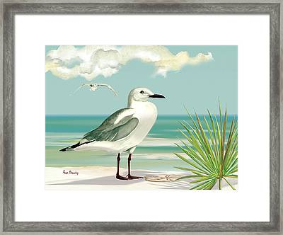 Downwind Framed Print by Anne Beverley-Stamps