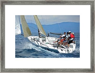 Downwind On Lake Tahoe Framed Print