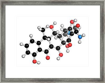 Doxycycline Antibiotic Molecule Framed Print by Molekuul