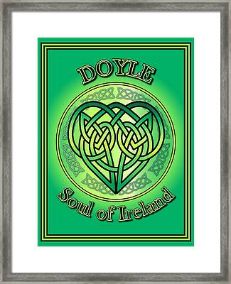 Doyle Soul Of Ireland Framed Print by Ireland Calling