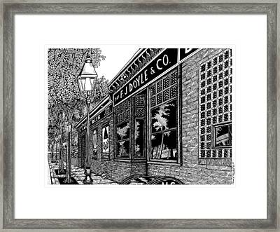 Doyles Cafe Framed Print by Conor Plunkett