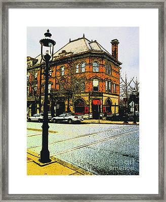 Doylestown -cafe Alessio Framed Print