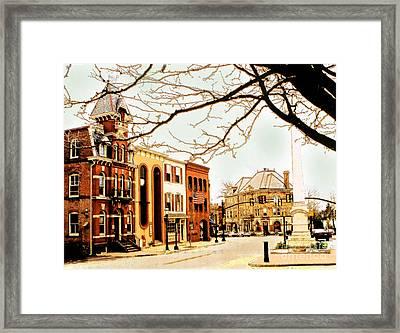 Doylestown-the Intellligencer Building Framed Print