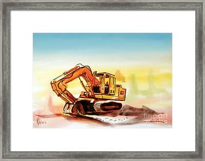 Dozer October Framed Print by Kip DeVore