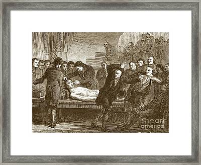 Dr. Andrew Ure 1778-1857 Framed Print by Sheila Terry