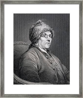 Dr Benjamin Franklin Framed Print by English School