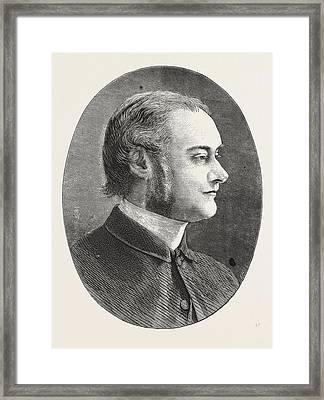 Dr. Carver, Head Master Of Dulwich College, Engraving 1876 Framed Print