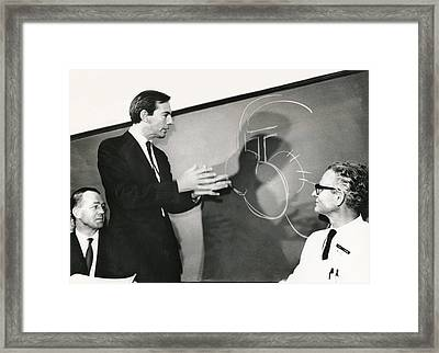 Dr. Christiaan Barnard Framed Print by Underwood Archives