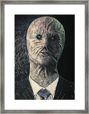 Dr. Decker Framed Print by Taylan Apukovska