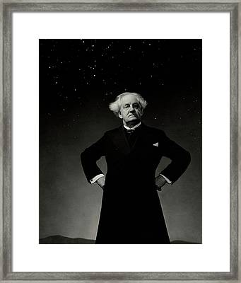 Dr. Gerhart Hauptmann With His Hands On His Hips Framed Print by Edward Steichen