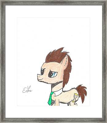 Dr. Hooves Framed Print by Rhapsody Forever