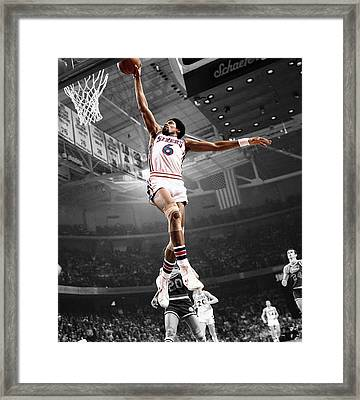 Dr J Framed Print by Brian Reaves