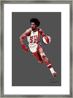 Dr. J Framed Print by Charley Pallos