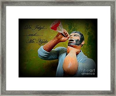 Dr. Jekyl And Mr. Hyde Framed Print by John Malone