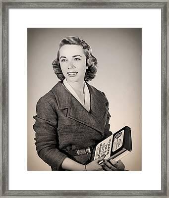 Dr Joyce Brothers 1959 Framed Print