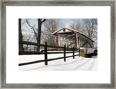 Dr Knisely Covered Bridge Framed Print