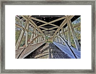 Framed Print featuring the photograph Dr. Knisely Covered Bridge by Suzanne Stout