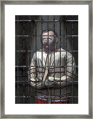 Dr. Lecter Restrained Framed Print by Daniel Hagerman