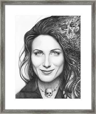 Dr. Lisa Cuddy - House Md Framed Print by Olga Shvartsur