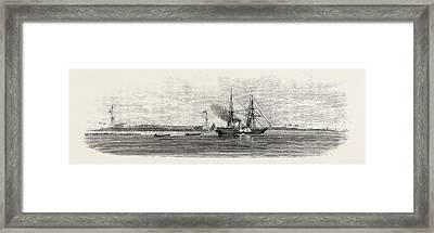 Dr. Livingstones Expedition The Pioneer With The Boats Framed Print by English School