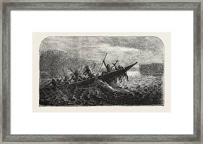 Dr. Livingstones Missionary Travels And Researchers Framed Print by South African School