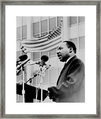 Dr Martin Luther King Jr Framed Print