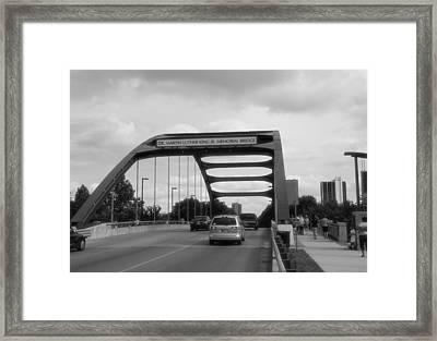 Dr. Martin Luther King Jr. Bridge Framed Print by Dan Sproul