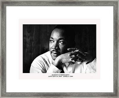 Dr. Martin Luther King Jr. Framed Print by David Bearden