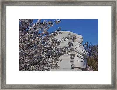 Dr Martin Luther King Jr Memorial Framed Print by Susan Candelario
