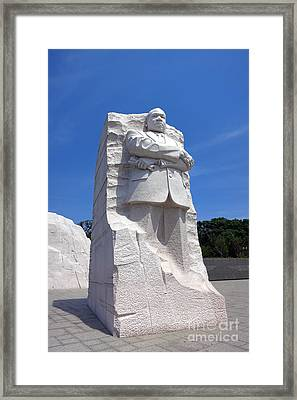 Dr Martin Luther King Memorial Framed Print