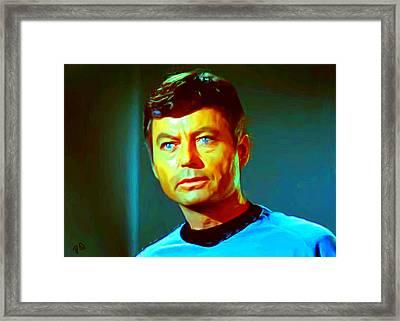 Dr Mccoy Framed Print