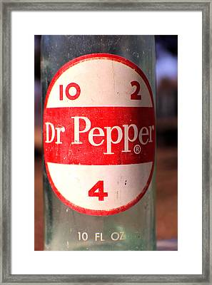 Dr. Pepper  Framed Print by Jon Baldwin  Art