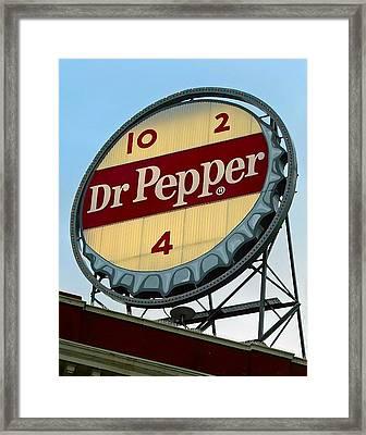 Framed Print featuring the digital art Dr Pepper by Kara  Stewart