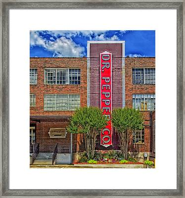 Dr Pepper Place - Birmingham Alabama Framed Print by Mountain Dreams