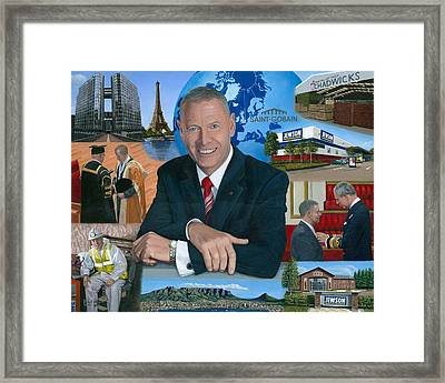 Dr Peter Hindle Mbe Framed Print