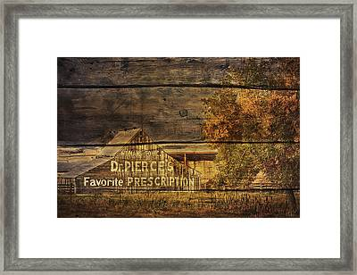 Dr. Pierce's Barn Framed Print by Priscilla Burgers