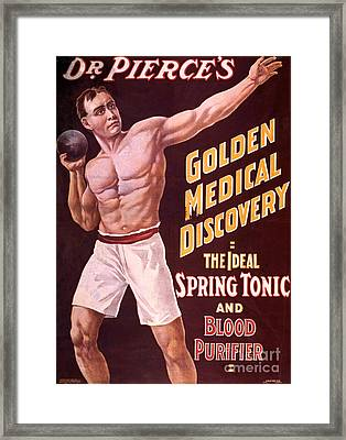 Dr Pierces Spring Tonic And Blood Framed Print by Science Source
