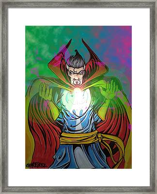 Dr. Strange Framed Print by Jeff Bonesteel
