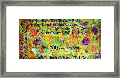 Dr. Suess Framed Print