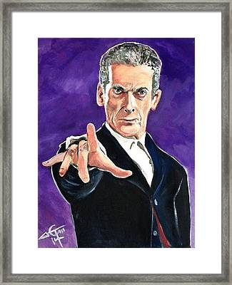 Dr Who #12 - Peter Capaldi Framed Print by Tom Carlton