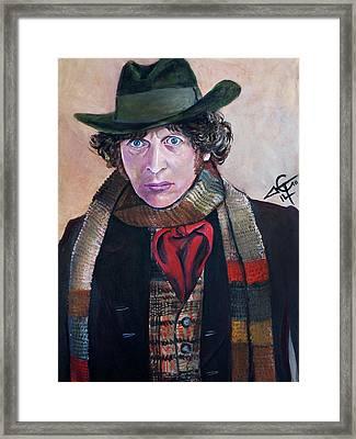 Dr Who #4 - Tom Baker Framed Print by Tom Carlton
