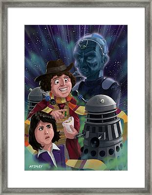 Dr Who 4th Doctor Jelly Baby Framed Print by Martin Davey
