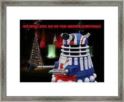 Dr Who - Dalek Christmas Framed Print by Richard Reeve